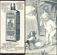 Peruvian Bitters California Cherry Cordial Homers Ginger Brandy Lashs Trade Card