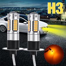 2X H3 4014 30 LED Nebelscheinwerfer DRL Tagfahrlicht Birnen Leuchten Gelb Amber