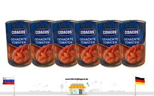 CIDACOS Gehackte Tomaten 6 x 410g Vorratspackung