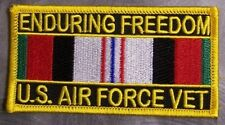 Embroidered Patch Gulf War Enduring Freedom Veteran Air Force NEW