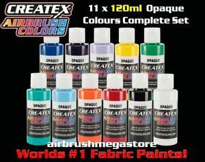 Createx Airbrush Colors 120ml Opaque 11 Colour Set + Free Insured Post