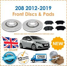 For Peugeot 208 2012-2019 Two Front Vented 266MM Brake Discs & Brake Pads Set