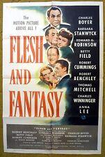 FLESH AND FANTASY - has Twist, Turns & Three Tales - 1943 Original movie poster