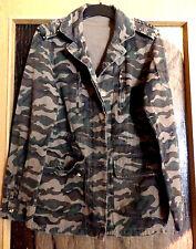 Vera & Lucy Multipocket Camouflage Jacke Herbstjacke mit Nieten Gr M