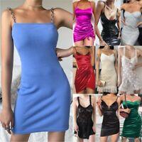 Fashion Womens Ladies Long Sleeve Sexy Party Cocktail Nightclub Bodycon Dress UK