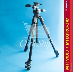 Manfrotto MT190X3 Aluminum Tripod with Manfrotto MHXPRO-3W 3-Way Pan/Tilt Head