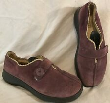 Hotter Purple Ankle Suede Lovely Boots Size 3 (179Q)