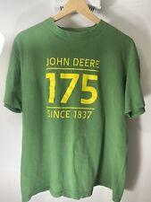 John Deere Short Sleeve T Shirt - Green - Large Classic Tee