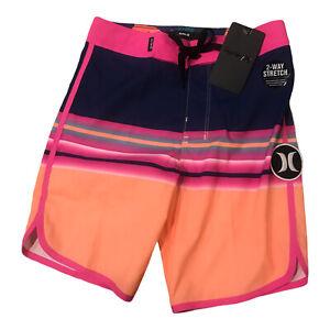 NWT$40 Hurley Small Boy's Boardshorts Swim Orange Pulse Size 5 883410