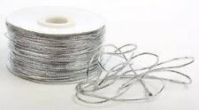 Shiny Silver String for Fashion, Arts and Craft - Thin & Bright - Diff Lengths