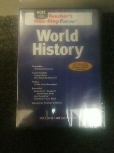 Holt Social Studies World History DVD One-Stop Planner®Teacher Edition - NEW