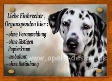 Dalmatiner   / Türschild / Warnschild