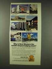 1978 Best Western Motel Ad - Largest Lodging Chain