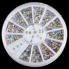 Mix New Wheel Nail Art Studs Rhinestones Glitter Diamond Gems 3D Tips Decoration