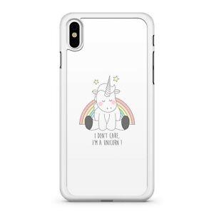 I Don't Care I'm A Unicorn Quote Rainbow Stars Blushing Unicorn Phone Case Cover