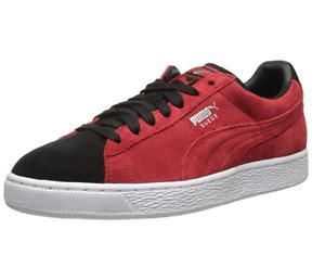 PUMA Men's Suede Classic Plus Sneakers, High Risk Red/Black