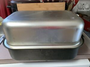 Vintage Miracle Maid Roaster Pan w/ Dome Lid