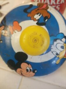 Vintage Chein 1979 Disney Mickey Mouse Metal Spinning Toy Top