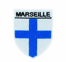 COAT OF ARMS MARSEILLE  backpack FLAG PATCHES PATCH IRON ON GLUE shield souvenir