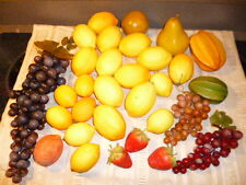 Lot-30 Faux~Fruit~Realistic Texture/Color-Apple Grapes berries Pear Starfruit +