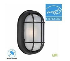 Hampton Bay Black Outdoor LED Wall Lantern