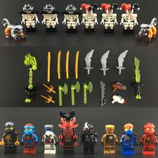 SET NINJAGO FIGURE NINJA Clown skeleton Kai Jay With Weapons Lego Toys Custom