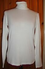 BNWT MAYSAA Ladies Cream Viscose Long Sleeved Polo Neck Top Size 16