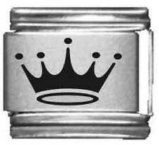 Clearly Charming Crown Laser Italian Charm