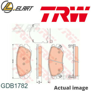 DISC BRAKE PADS SET  FOR SAAB VAUXHALL 9 5 YS3G A 20 DTR A 16 LET CAMARO TRW