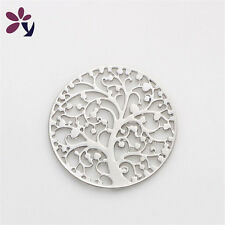 22mm Lucky Tree silver discs Round for Glass Living Memory Locket Floating Charm