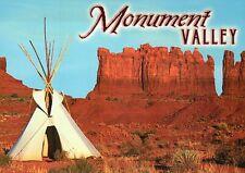 Monument Valley Arizona - Utah, Navajo Reservation, Tipi, Teepee, AZ -- Postcard