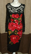 Phase Eight / 8 Rosie Lee lace dress in black Size 12