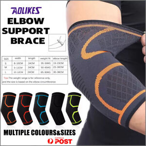 AOLIKES® Elbow Brace Support Compression Arm Sleeve Sport Gym Joint Pain Relief