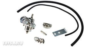 Rev9 Universal Turbo Fuel Pressure Regulator + Gauge 0-10 kg/cm2 w/ Hose Silver