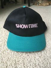 VINTAGE 1990s SHOWTIME CABLE TV NETWORK SNAPBACK CAP HAT vtg cinemax hbo starz