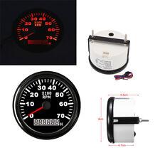 Car Truck Boat Diesel Engine Tacho Meter LCD Digital Tachometer 0-7000RPM Guage