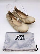 Yosi Samra Women's Lexington Foldable Slip On Ballet Flats Ivory US 7M  #137