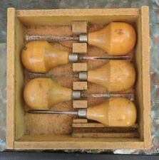 New ListingVintage Millers Falls No 107 Woodworking Tools 5 Piece Wood Chisel Carving Set