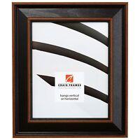 "Craig Frames 2"" Wide Farmhouse Black w/ Brown Wood Wall Decor Picture Frames"