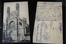 Feldpost Karte Foto 1WK K.A.Btl.87 Kirche Schwarzenbach Belgien? Frankreich? WW1
