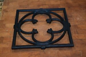 Dansk Danish Trivet IHQ Designed By Gunnar Cyren Black Cast Iron 7 x 7""