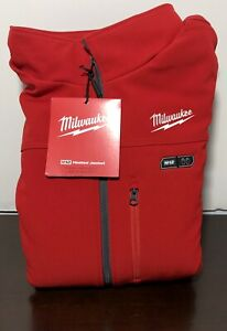 Milwaukee M12 HEATED TOUGHSHELL Jacket 2XL Color RED (202R-202X)