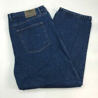 Smith's Workwear Denim Jeans Mens 42X30 Blue Straight Leg Cotton Medium Washed