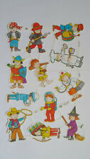 SCRAPS Sheet MLP 2040 Children Playing Die-cut Oblaten Glanzbilder Rare