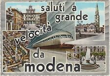 SALUTI A GRANDE VELOCITA' DA MODENA - VEDUTINE E TRENO 1961