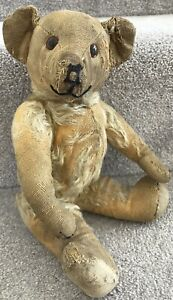 Antique Vintage Deans Jointed Mohair Teddy Bear Well Loved British C.1950s