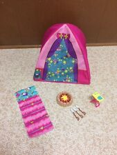 Barbie Sister Stacie Chelsea Skipper Doll Tent Camp Out Set Sleeping Bag Playset