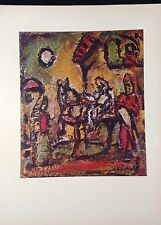 """1954 Vintage Full Color Art Plate """"THE FLIGHT INTO EGYPT"""" by ROUAULT Lithograph"""