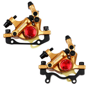 Zoom Xtech Bicycle Hydraulic Disc Rotor Brake Set for Road/MTB/E-Bike etc.Gold