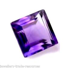 12mm x 12mm Natural Purple Amethyst Square Princess Cut Gem Gemstone